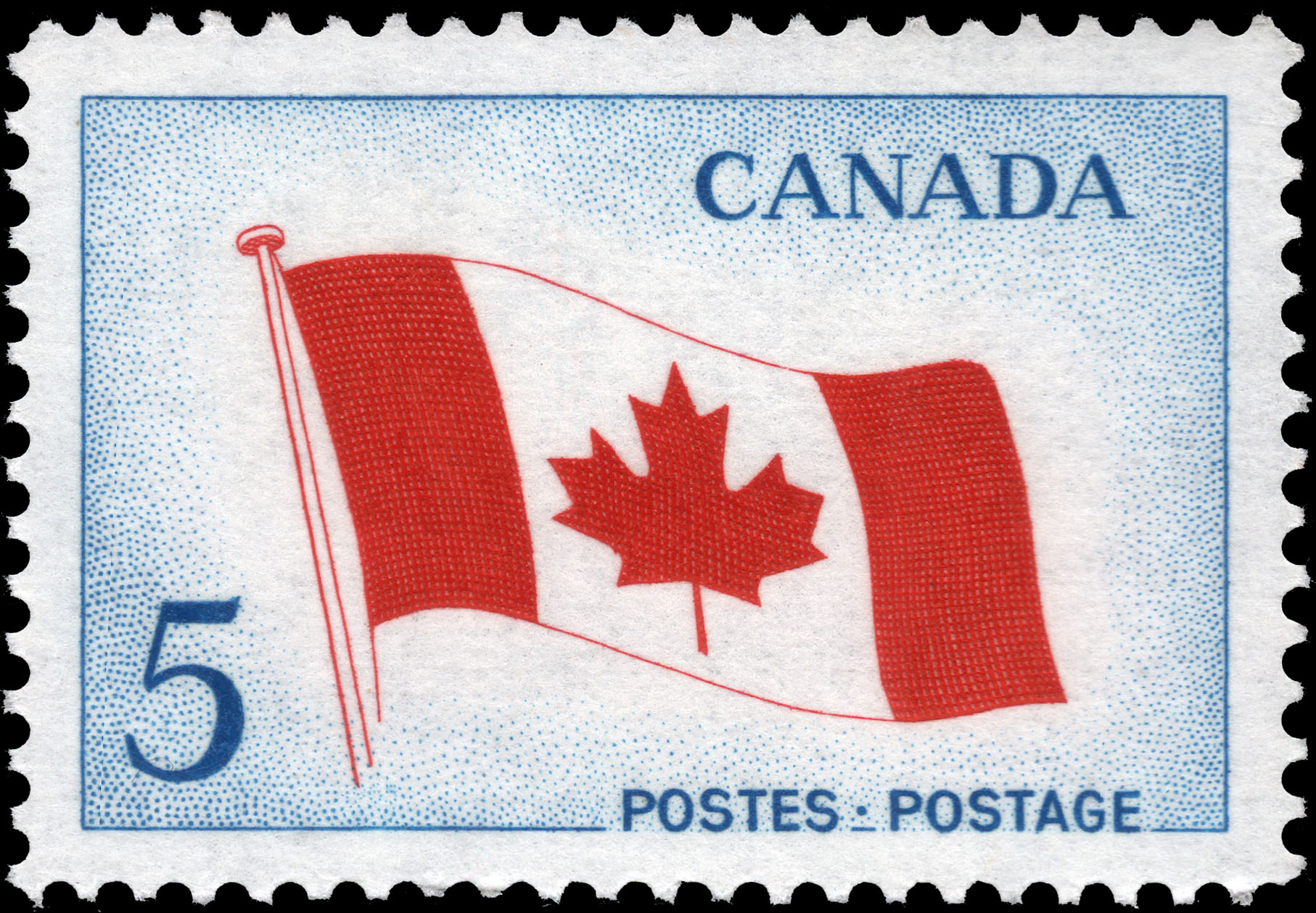 The National Flag Canada Postage Stamp