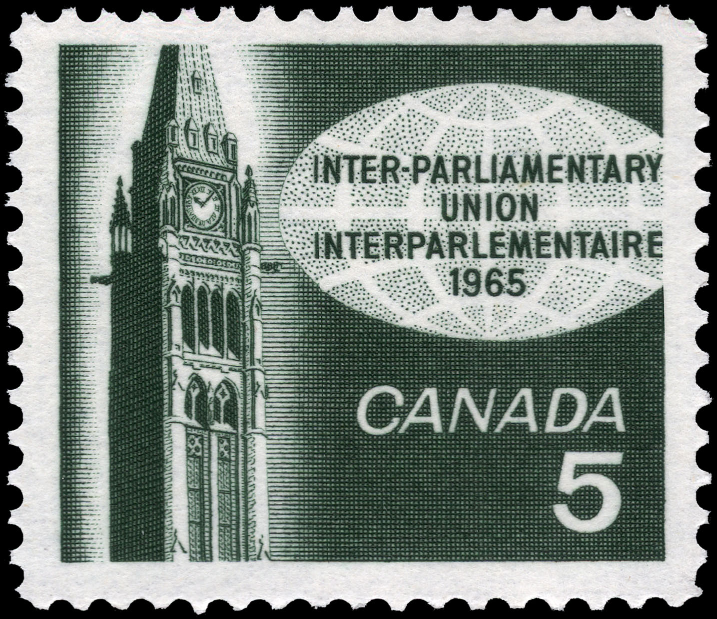 Inter-Parliamentary Union, 1965 Canada Postage Stamp