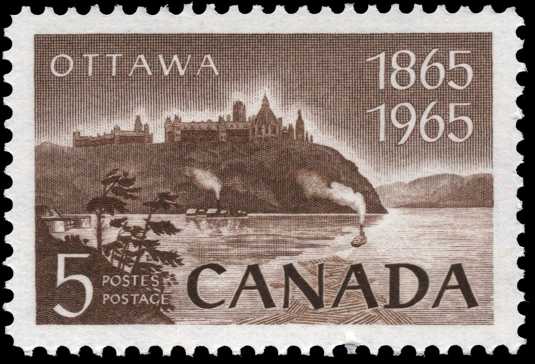 Ottawa, 1865-1965 Canada Postage Stamp