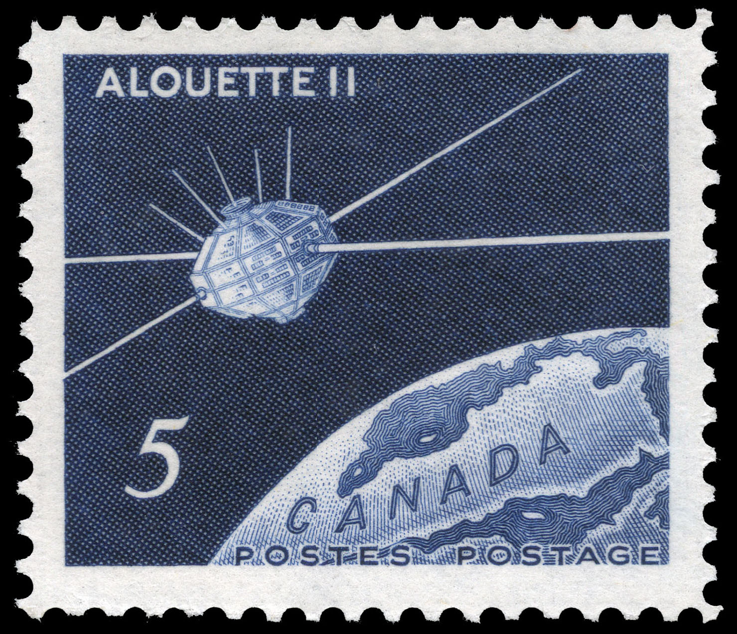 Alouette II Canada Postage Stamp