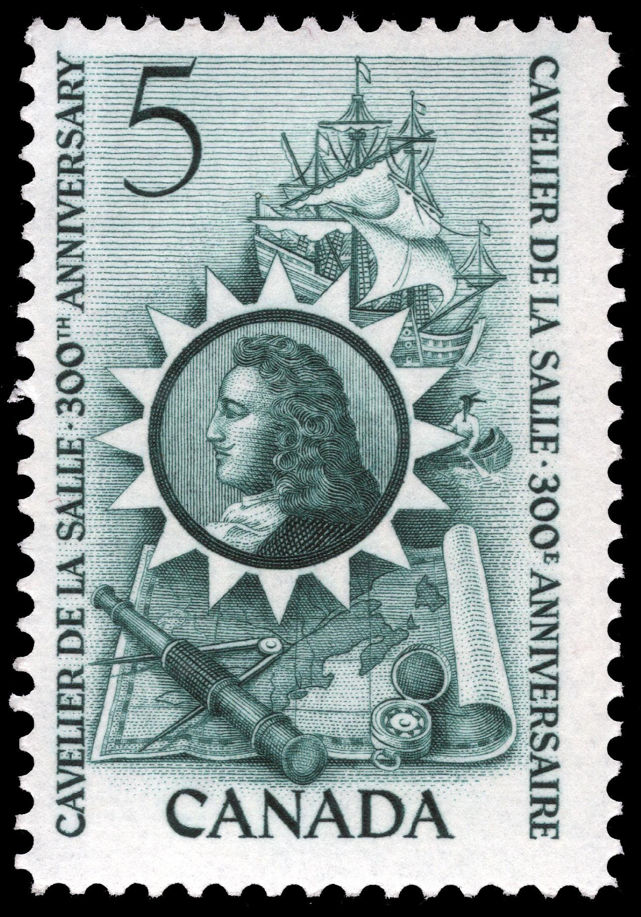 Cavelier de La Salle, 300th Anniversary Canada Postage Stamp