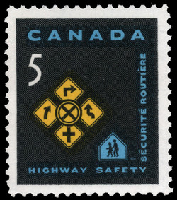Highway Safety Canada Postage Stamp