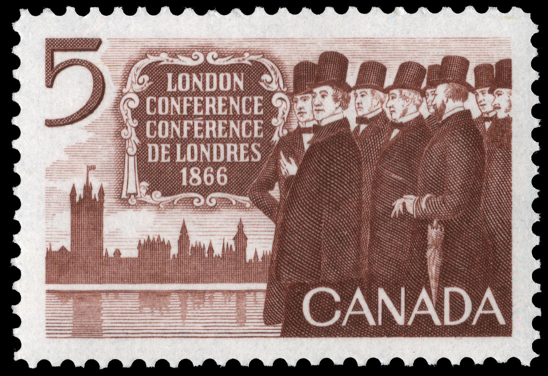 London Conference, 1866 Canada Postage Stamp