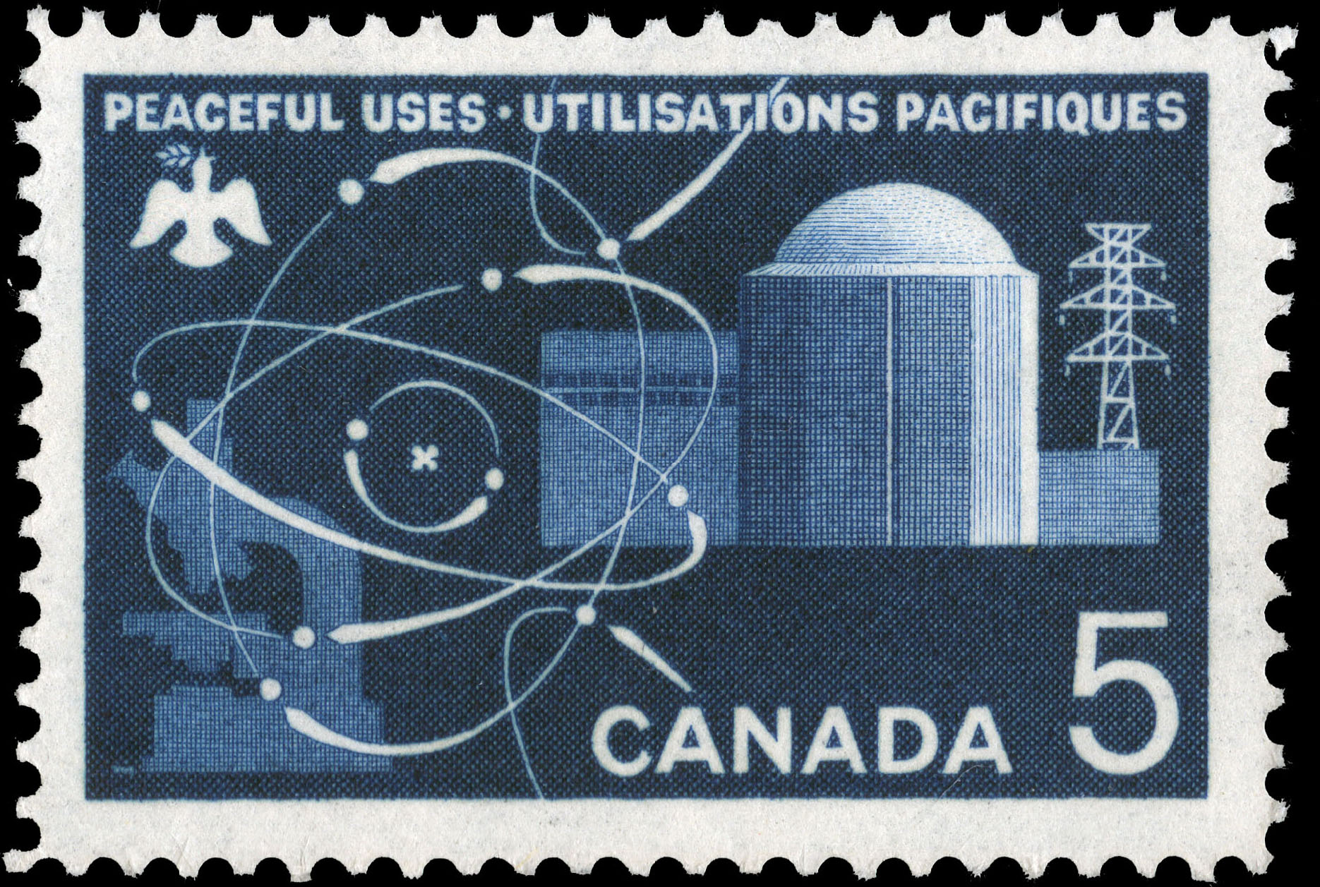 Peaceful Uses, Atomic Energy Canada Postage Stamp