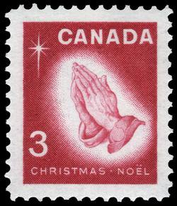 Praying Hands Canada Postage Stamp | Christmas