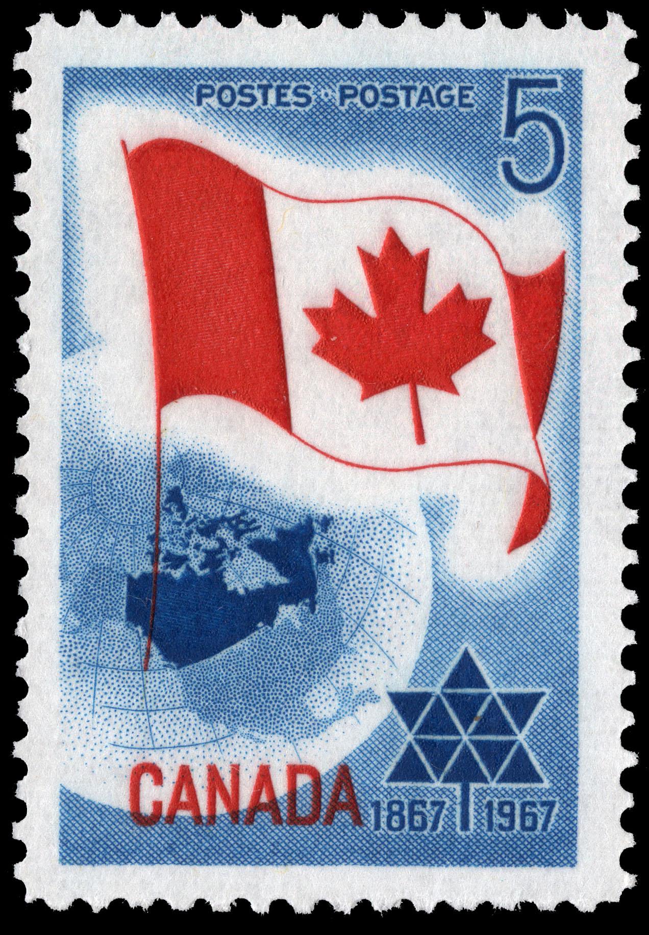 Centennial, 1867-1967 Canada Postage Stamp