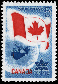 Centennial, 1867-1967 Canada Postage Stamp