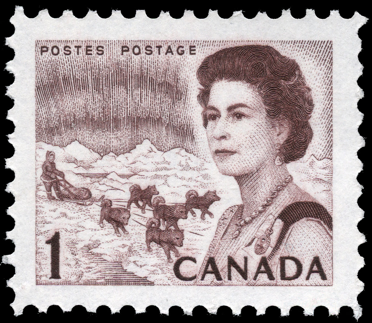 Queen Elizabeth II, Northern Regions Canada Postage Stamp | Centennial Issue