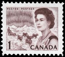 Queen Elizabeth II, Northern Regions Canada Postage Stamp | Centennial Issue