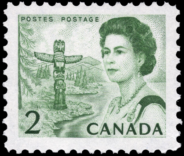 Queen Elizabeth II, Pacific Coast Canada Postage Stamp | Centennial Issue