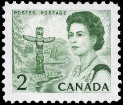 Queen Elizabeth II, Pacific Coast Canada Postage Stamp   Centennial Issue