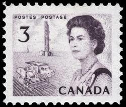 Queen Elizabeth II, Prairie Scene Canada Postage Stamp | Centennial Issue