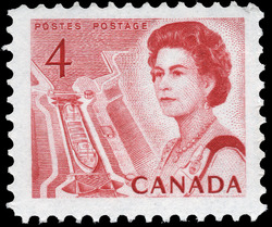 Queen Elizabeth II, Mid-Canada Seaway View Canada Postage Stamp | Centennial Issue