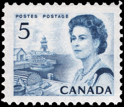 Queen Elizabeth II, Atlantic Coast Canada Postage Stamp   Centennial Issue