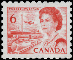 Queen Elizabeth II, Transport and Communications Canada Postage Stamp | Centennial Issue