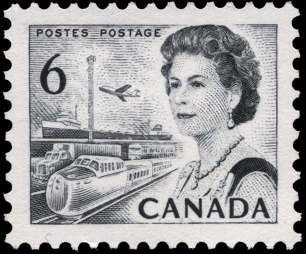Queen Elizabeth II, Transport and Communications Canada Postage Stamp