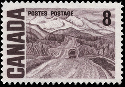 Alaska Highway between Watson Lake and Nelson Canada Postage Stamp   Centennial Issue