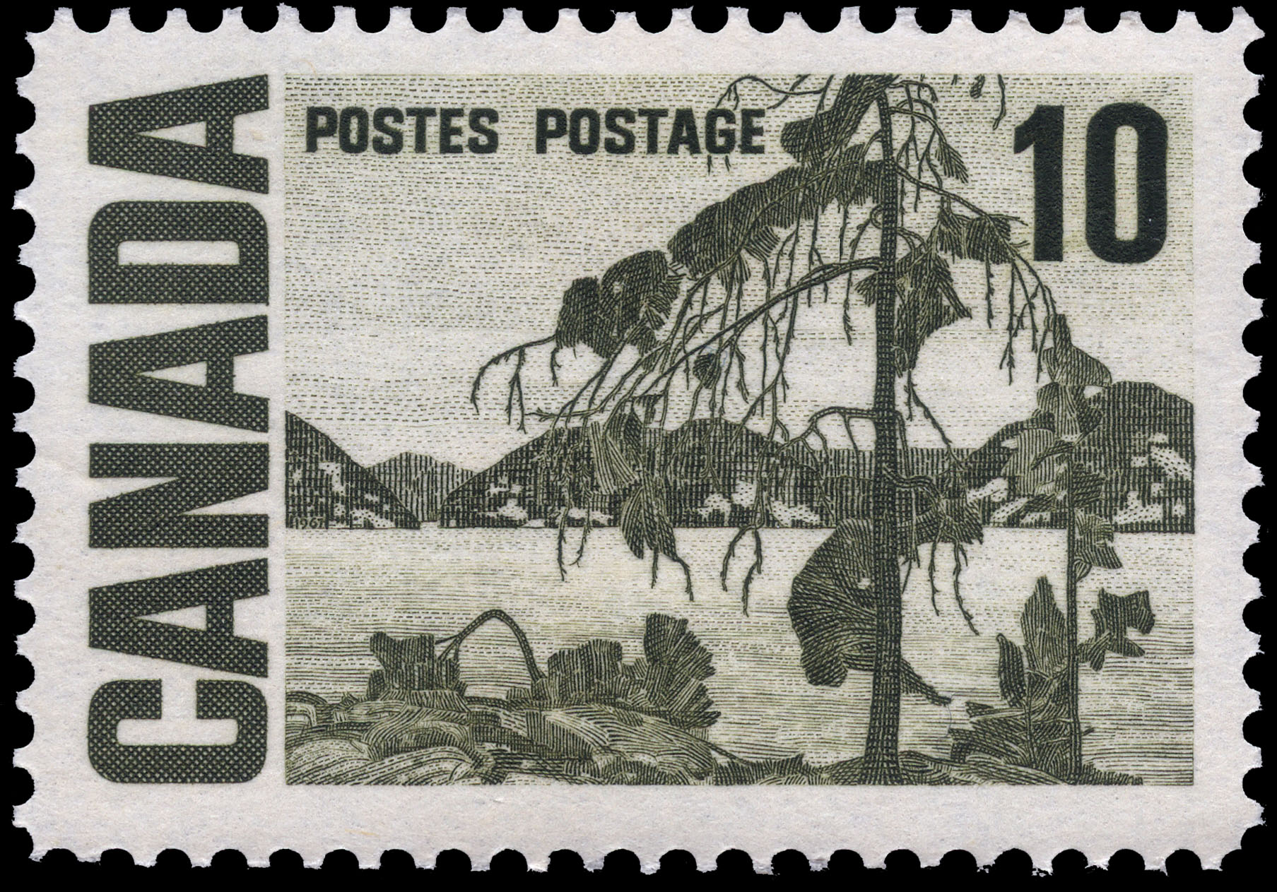 The Jack Pine Canada Postage Stamp