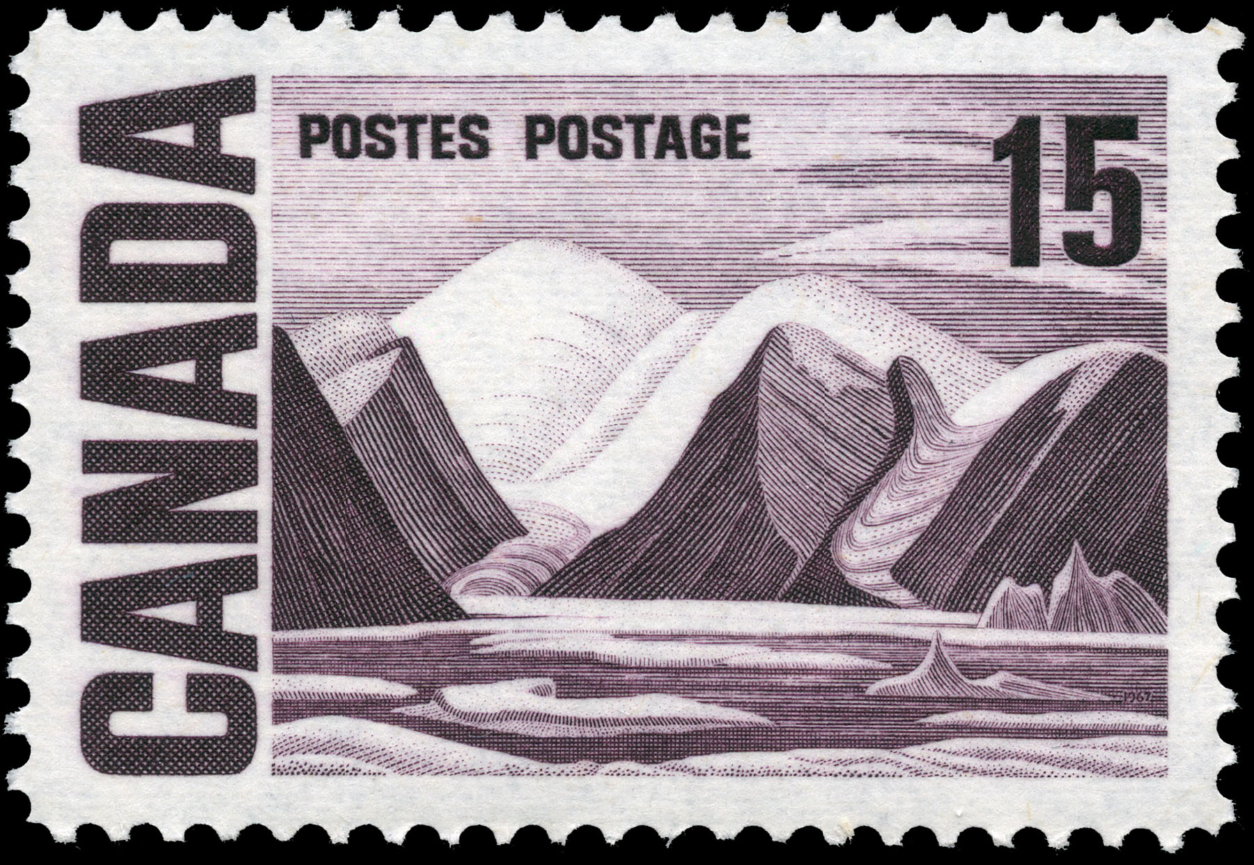 Greenland Mountains Canada Postage Stamp