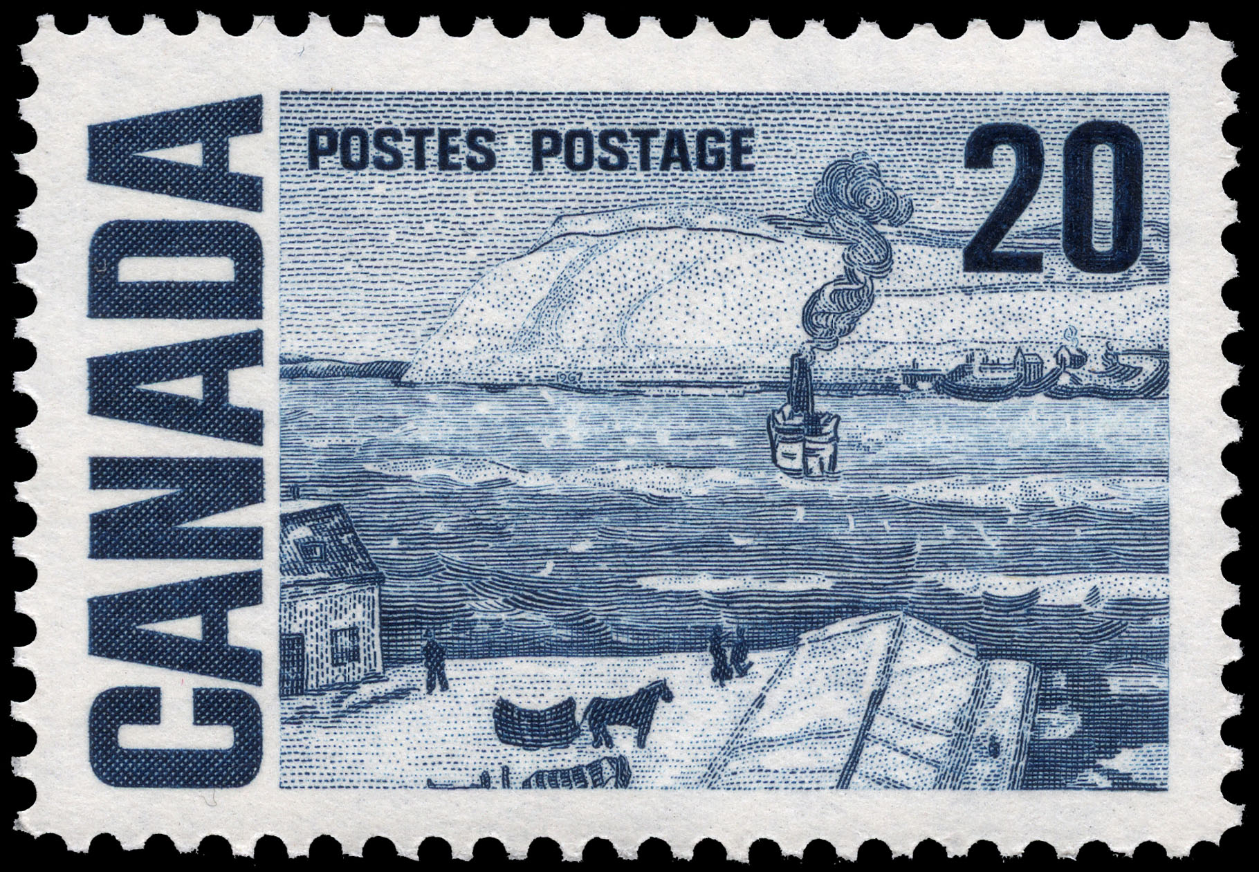 The Ferry, Quebec Canada Postage Stamp | Centennial Issue