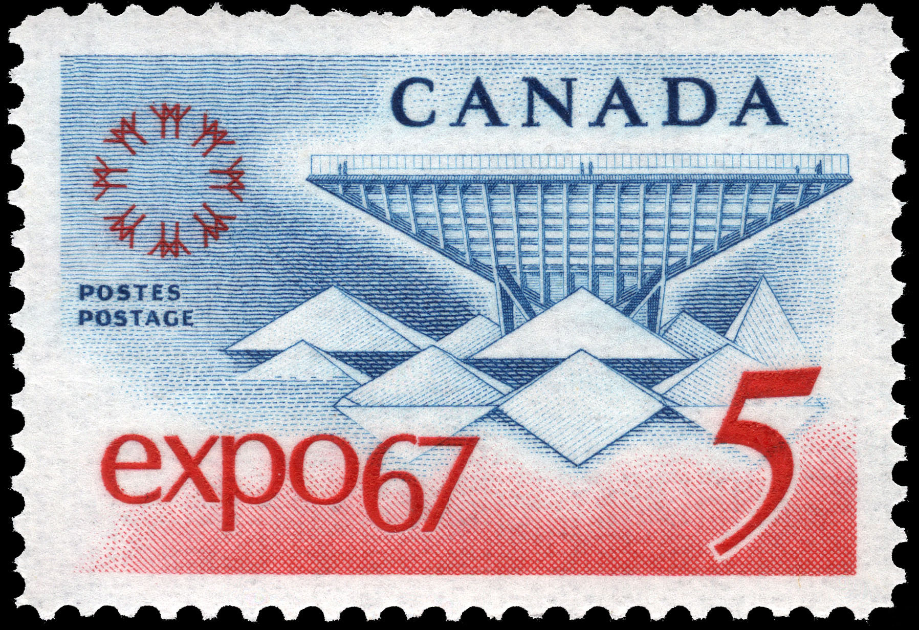 Expo 67 Canada Postage Stamp