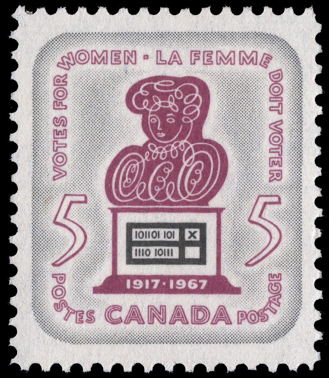Votes for Women, 1917-1967 Canada Postage Stamp