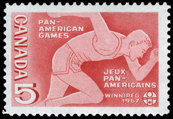 Pan-American Games, Winnipeg, 1967 Canada Postage Stamp