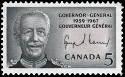 Georges Philias Vanier, Governor-General, 1959-1967 Canada Postage Stamp