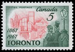 Toronto, 1867-1967 Canada Postage Stamp