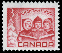 Children singing Carols Canada Postage Stamp | Christmas