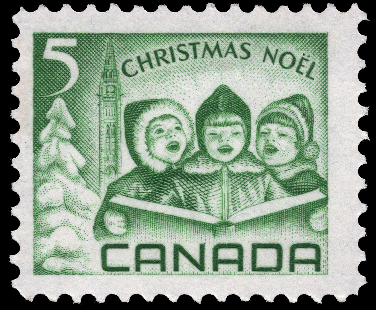 Children singing Carols Canada Postage Stamp