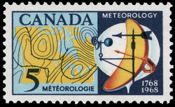 Meteorology, 1768-1968 Canada Postage Stamp