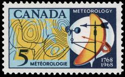 Meteorology, 1768-1968 Canada Postage Stamp