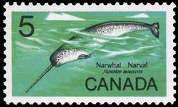 Narwhal, Monodon monoceros Canada Postage Stamp