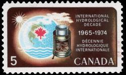 International Hydrological Decade, 1965-1974 Canada Postage Stamp