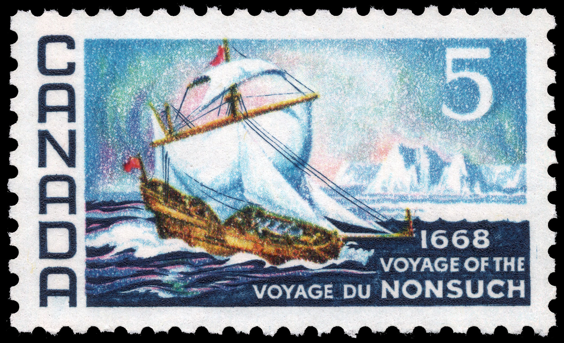 Voyage of the Nonsuch, 1668 Canada Postage Stamp