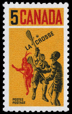 Lacrosse Canada Postage Stamp