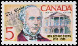Hon. George Brown, 1818-1880 Canada Postage Stamp