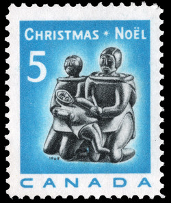 Family Group Canada Postage Stamp | Christmas