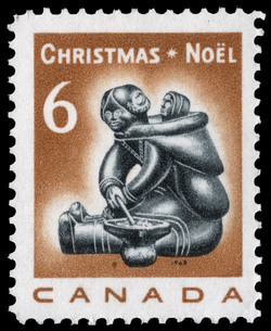 Mother and Child Canada Postage Stamp   Christmas