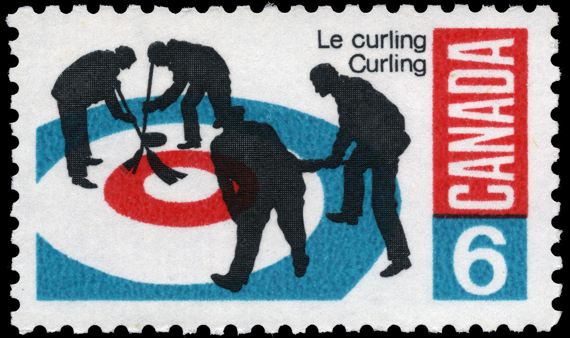 Curling Canada Postage Stamp