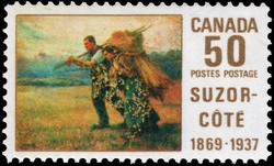 Suzor-Cote, 1869-1937 Canada Postage Stamp
