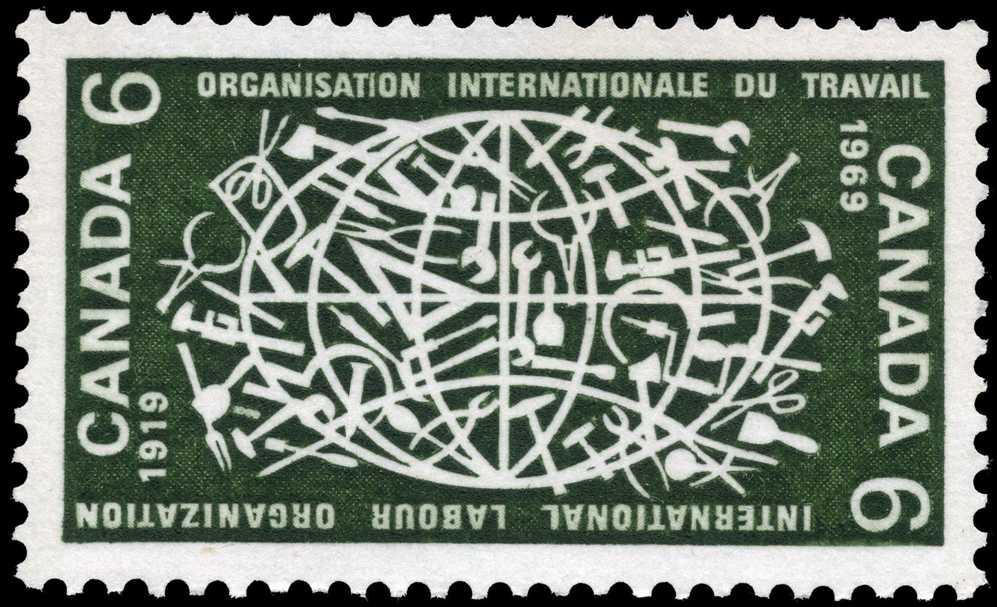 International Labour Organization, 1919-1969 Canada Postage Stamp