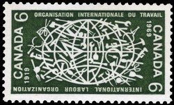 International Labour Organization, 1919-1969 Canada Postage Stamp