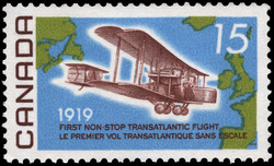 First Non-Stop Transatlantic Flight, 1919 Canada Postage Stamp