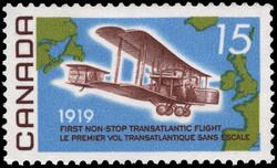 First Non-Stop Transatlantic Flight, 1919 Canada Postage Stamp