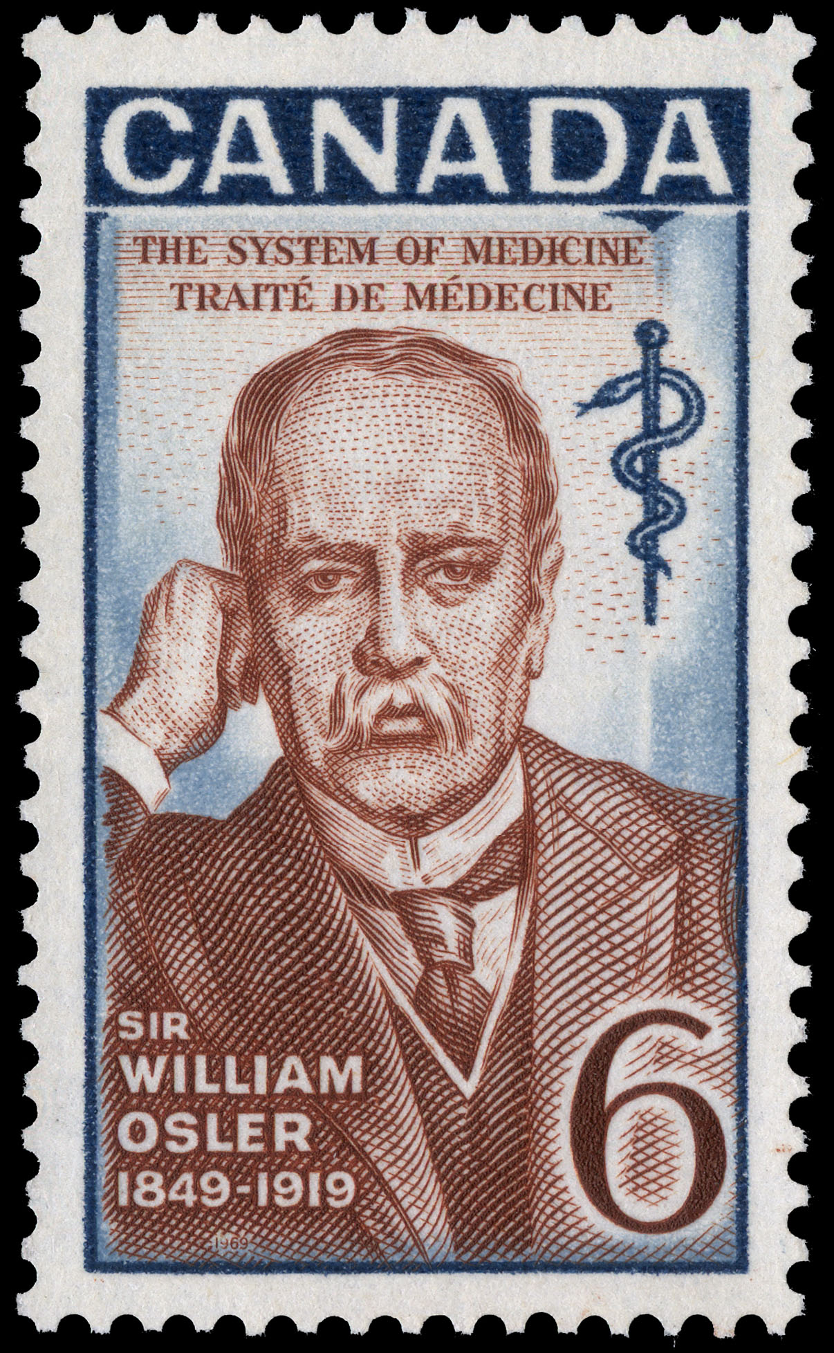 Sir William Osler, 1849-1919, The System of Medicine Canada Postage Stamp