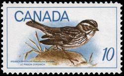 Ipswich Sparrow, Passerculus princeps Canada Postage Stamp | Birds