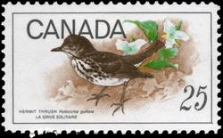 Hermit Thrush, Hylocichla guttata Canada Postage Stamp | Birds