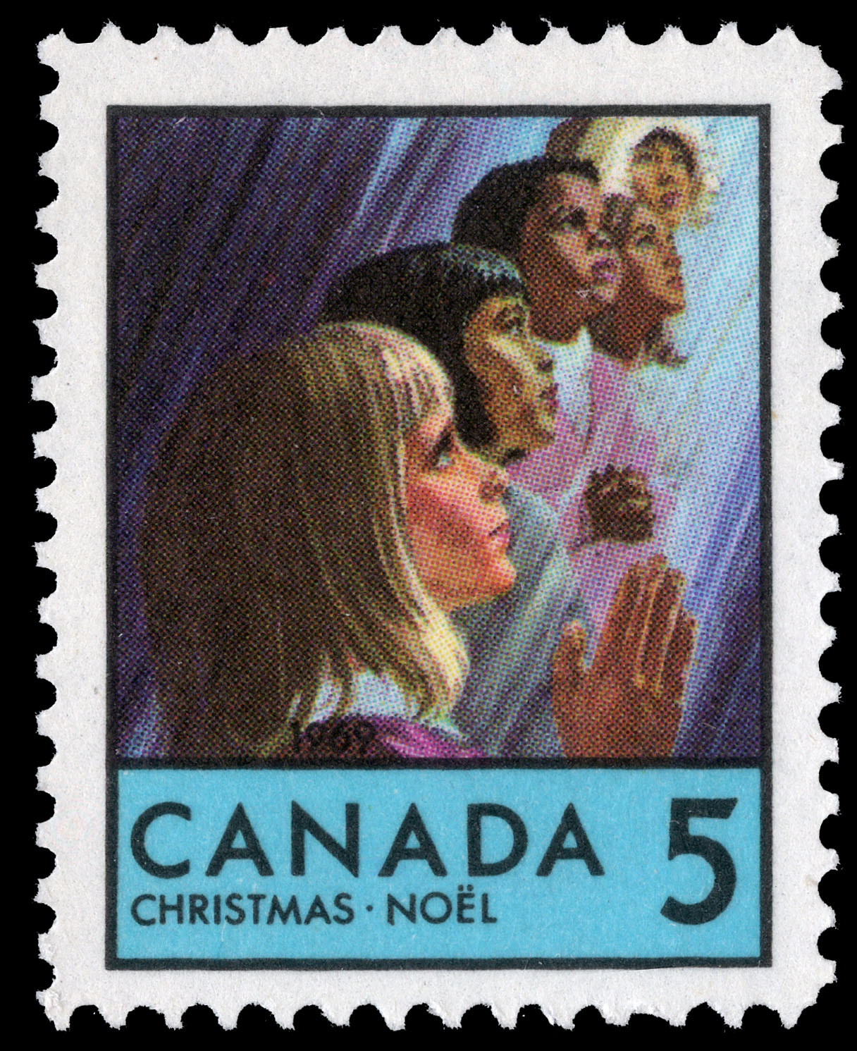 Faces of Children Canada Postage Stamp | Christmas
